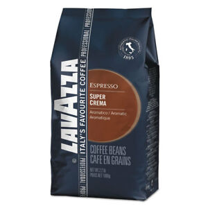 Lavazza Super Crema Whole Bean Espresso Coffee 2 2lb Bag Vacuum packed