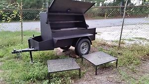 Rotisserie Pro Bbq Business Smoker Grill Food Truck Catering Trailer Concession