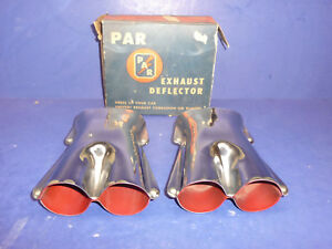 Nos Vintage 1940 s 1950 s Accessory Par Exhaust Deflector Tips