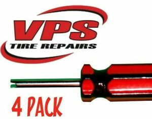 4 Pack Tire Repair Install Tool Screwdriver Valve Stem Core Remover Vt04s