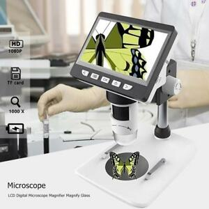 1000x 4 3 Hd 1080p Portable Desktop Lcd Digital Microscope Magnifier Magnify
