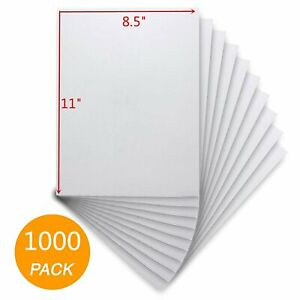 1000 8 5x11 Full Sheet Shipping Address Labels Adhesive Laser Inkjet Fedex Usps