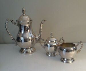 Fb Rogers Silverplated Tea Or Coffee Service Set W Sugar And Creamer