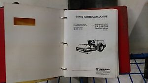 Dynapac Ca251 301 Vibratory Roller Parts Operation Safety Maintenance Manuels