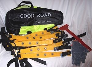 Good Road Tire Snow Chains 10 Total Snow Chain Tire Chain Tool Gloves