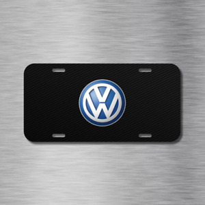 Vw Volkswagen Simulated Carbon Plate Euro Vehicle License Plate Auto Car Tag