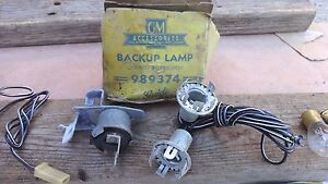 Nos 1961 Oldsmobile Back Up Lamp Kit Original Gm Guide Accessory Syncro mesh