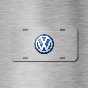 Vw Volkswagen Simulated Brushed Euro Jetti Gt Vehicle License Plate Auto Car Tag