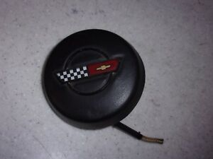 89 Corvette Steering Wheel Horn Button C4 Tpi Cover 86 87 Leather Gm Oem Leather