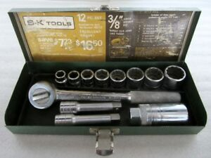 Classic S k Tools 3 8 Drive Sae Socket Set Case Made In Usa 4512