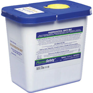 Pharmasafety Sharps Disposal Gasket Container 2 gallon 20 case