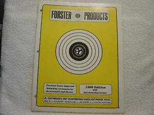 FORSTER PRODUCTS 1980 GUN RELOADING TOOLS SHOOTING GUNSMITH CATALOG
