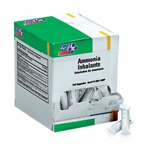 First Aid Only H5041 amp Ammonia Inhalant Ampoules 100 box Original Version