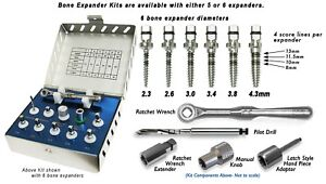 Dental Implant Bone Expander Kit Sinus Lift Drill Compression Oral Surgery