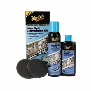 Meguiar s G2970 Meguiar s Two Step Headlight Restoration Kit 4 Fl Oz 1 Pack