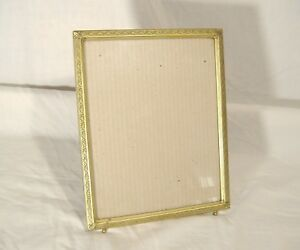Vintage Damascene Embossed Picture Frame Gilt Gold Metal 8 X 10