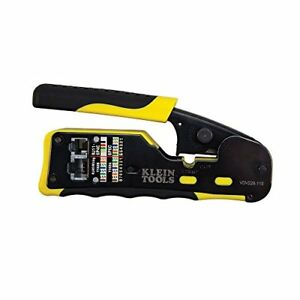 Klein Tools Pass through Connector Crimper 6 Crimping Tool Terminal Wire Pliers