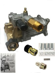 Free Adapters 3100 Psi Pressure Washer Pump Brass Head Fits 3 4 Horizontal Shft