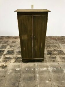Vintage Primitive Green Kitchen Cabinet Storage China Cupboard Pantry Furniture