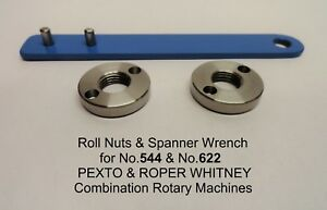 2 Roll Nuts Spanner Wrench For Pexto Roper Whitney Rotary Machines