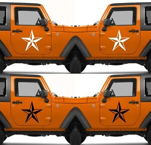 Set Of 2 America Us U S Army Armed Forces Military Star Vinyl Decal Sticker V17