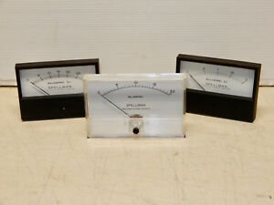 3 Vintage Spellman Milliamp Meters