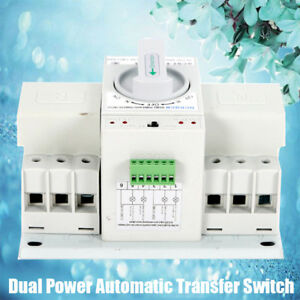 1 X Dual Power Automatic Transfer Switch Circuit Breaker 3p 50hz 60hz Switches