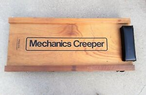 Vintage Wood Mechanics Creeper By Sparkomatic Corporation No Sc 100