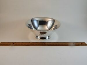 Vintage Tiffany Sterling Silver Footed Bowl Pattern 20660 Mono Nbs 5 5