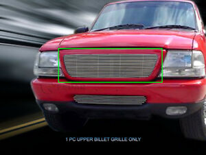 Main Upper Billet Grille Replacement Insert For 1998 1999 2000 Ford Ranger