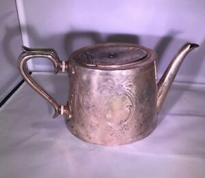 Vintage Silver Plate Tea Pot Silverplate Coffee Antique Collectable Teapot