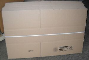 Wholesale Lot Of 20 Corrugated Cardboard Boxes 17 X 12 1 2 X 5 Brand New