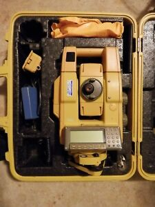 Topcon Gpt 8205a Robotic Total Station Fc 1000 Data Collector For Surveying