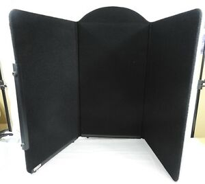 Expo Star Black White 3 Panel Folding Portable Display Tabletop Jewelry W Case