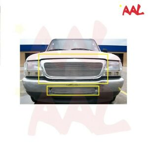 Aal 1998 1999 2000 Ford Ranger Replacement Upper Bumper Billet Grille Inserts