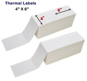 5000 10 000 Fanfold 4x6 Thermal Transfer Labels Shipping Barcode Labels Zebra