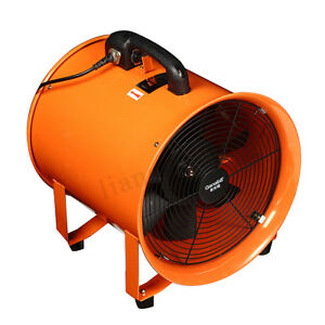12 Portable Ventilator Axial Ducting Blower Industrial Workshop Extractor