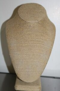 Lot Of 10 Burlap Necklace Display Bust Stands Great Condition