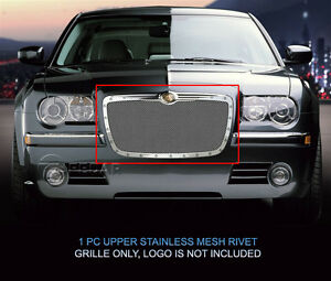 Rivet Mesh Grille Main Upper Insert For Chrysler 300 300c 2005 2010
