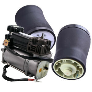 Rear Air Suspension Springs Bag With Compressor Pump For Bmw X5 2000 2006