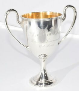 Rare Golf 1909 Glen View Club Aster Cup Sterling Silver Trophy Chalice Gorham