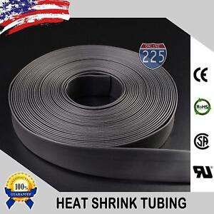 50 Ft Feet Black 1 1 2 38mm Polyolefin 2 1 Heat Shrink Tubing Tube Cable Us Ul