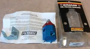 New Russell Ultra Flow Carb Carburetor Fuel Pressure Regulator Anodized Red Blue