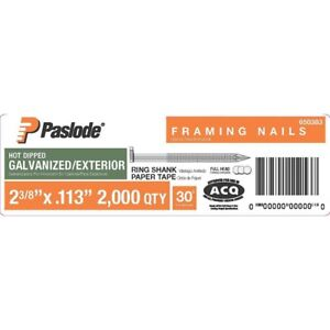 Paslode Framing Nails 2 3 8 In X 0 113 gauge Galvanized Ring Shank Paper Tape