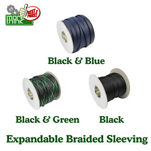 1 W Cable Sleeve Expandable Wire Braided Sleeving Guard Hot Sell Colors 80ft