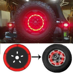 Spare Tire Led Wheel Light 3rd Brake Light Lamp Ring For Jeep Wrangler 1997 2018