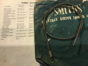 Nos Smiths Inner Tachometer Cable Di1100 00 2 7 Tr4 Spitfire Mki 25 1