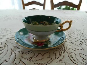 Royal Sealy China White Pears Teacup Saucer 1 3