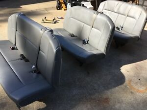 3 Bench Seats 2007 Ford E 350 Passanger Van Includes Mounting Brackets