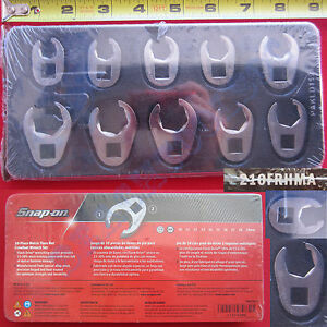 New Snap On 3 8 Metric Flare Nut Crowfoot Wrench 10 Piece Set 210frhma Usa